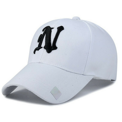 N  Embroidered Hats-White