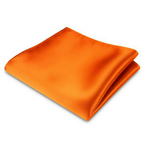 Orange Silk Satin Pocket Square
