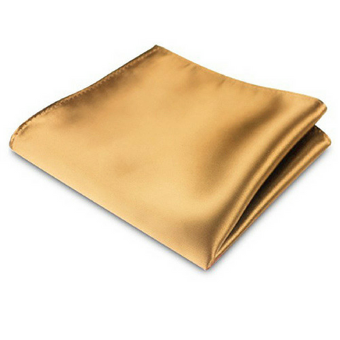 Bronze Silk Satin Pocket Square