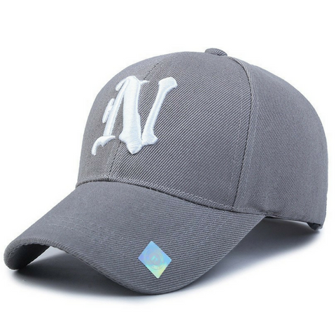 N  Embroidered Hats-Grey