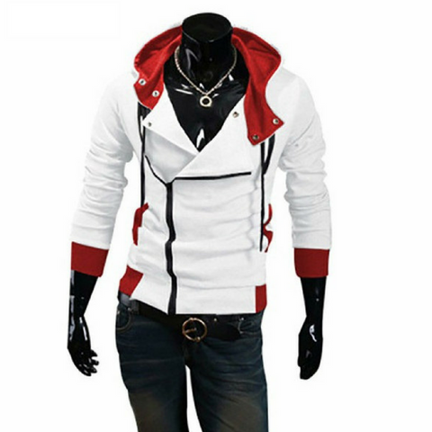 Creed Style Hoodie Jacket - White Style Red