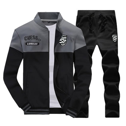 Muscle Fit Tracksuit by Linder - Black