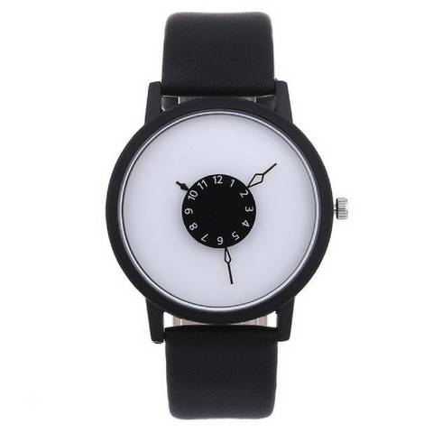 Black & White Hardlex Wrist Watches
