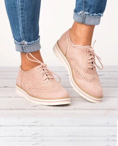 Linder Women's Lace Up Oxfords Shoes in Pink