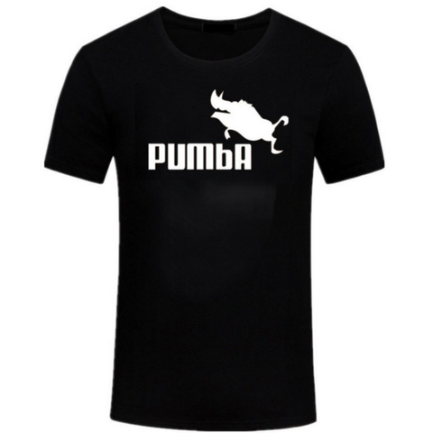 DESIGN Unisex Pumba T Shirt in Black