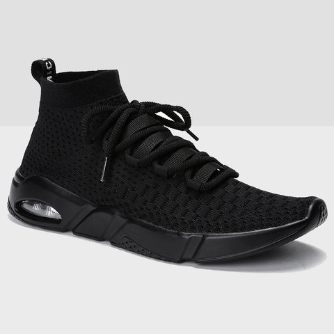 Breathable Mesh Running Shoes - Black