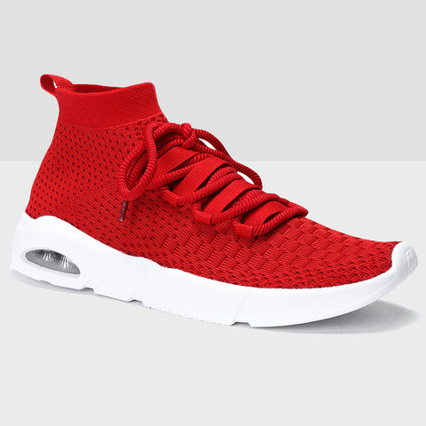 Breathable Mesh Running Shoes - Red
