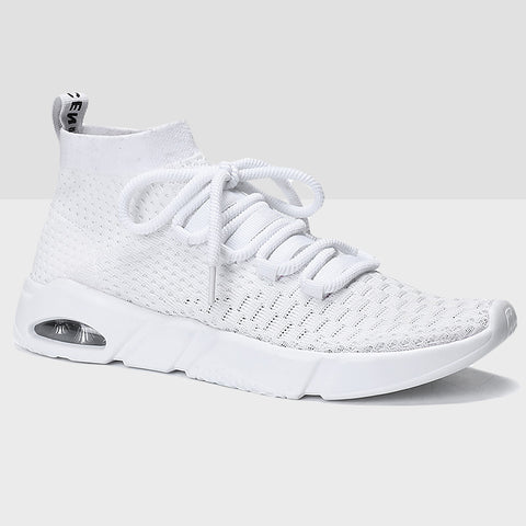 Breathable Mesh Running Shoes - White