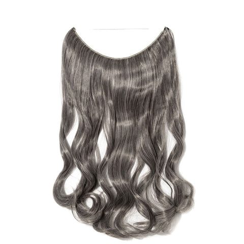 Flip-in Hair Extension - Metal Grey