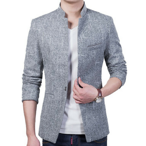Casual Blazer Light Grey