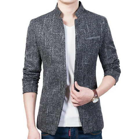 Casual Blazer Dark Grey