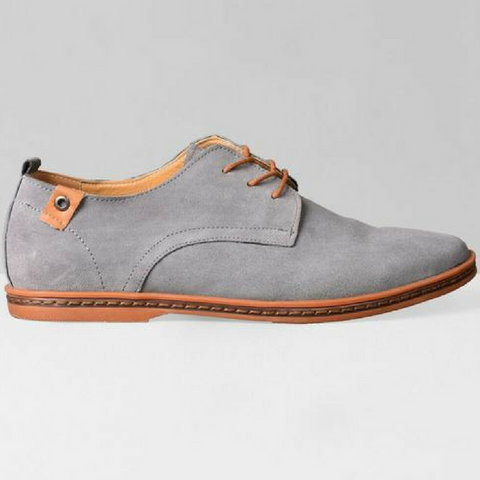 New England Casual Flats-Grey