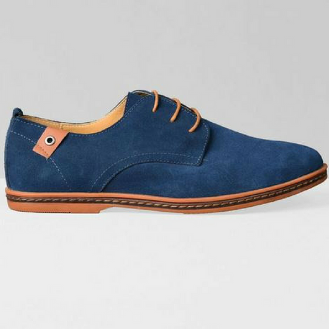 New England Casual Flats-Blue