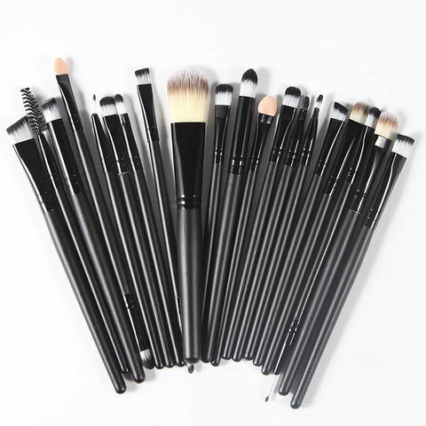 Professional Cosmetic Makeup Brush Kit - Black