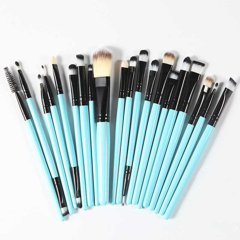 Professional Cosmetic Makeup Brush Kit - Turquoise