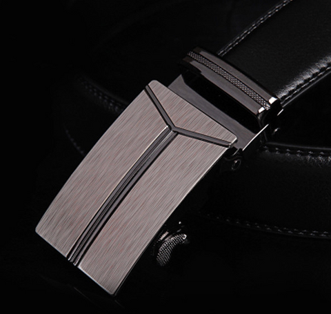 Stainless Steal Mens Executive Belt - Genuine leather