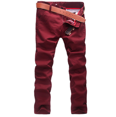 Linder Skinny Fit Chinos in Red