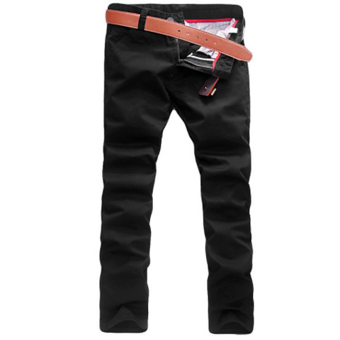 Linder Skinny Fit Chinos in Black