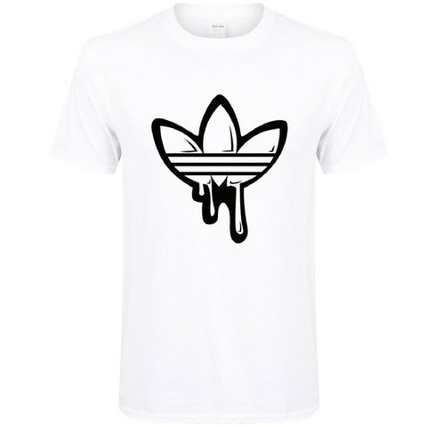 T-shirt Trefoil Faded Paint in White