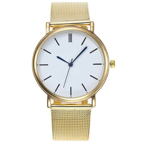 Linder Classic Inspired Mesh Strap Women Watch in Gold