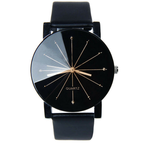 Men's PU Leather Analog Watch
