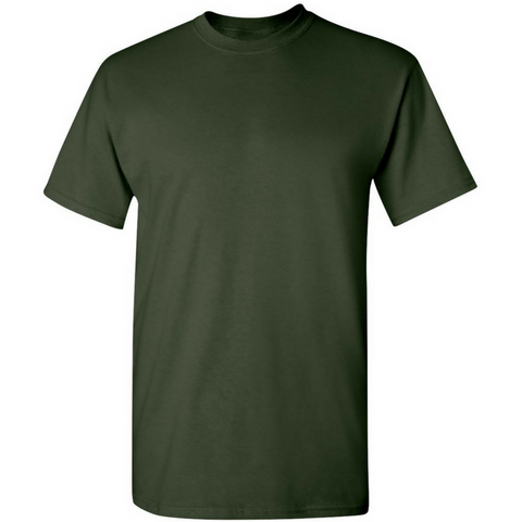 Men's Cotton Crew Neck T-shirt Dark Green