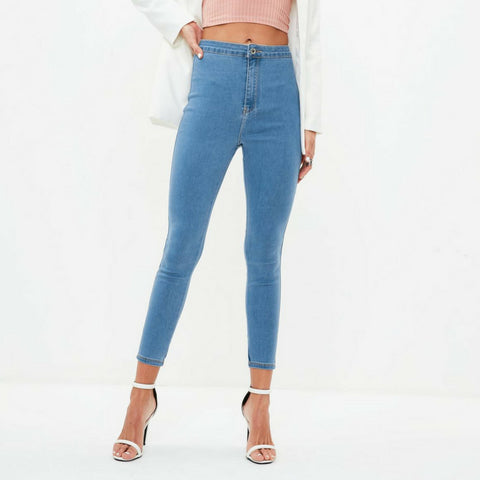 LINDER High Waisted Skinny Jeans in Blue