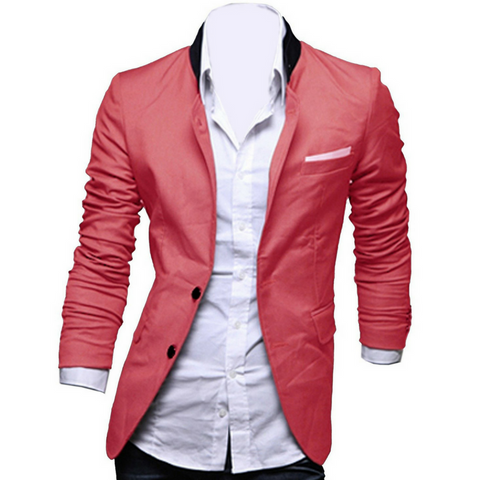 Mens Summer Blazer with Contrast Pocket APPAREL