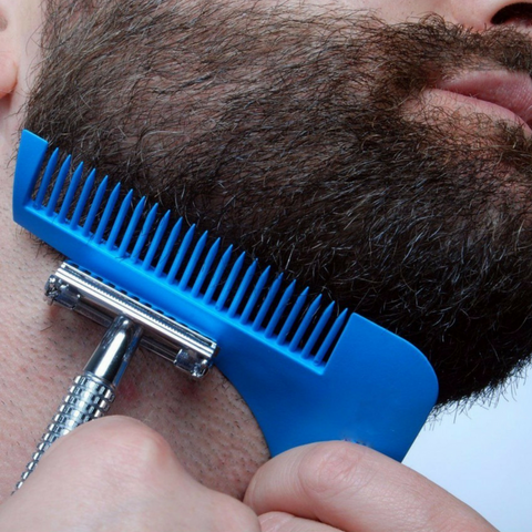 Beard Shaping Comb Blue