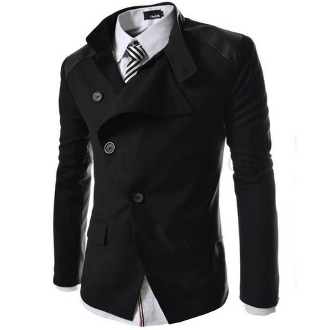 Futerisitic Jacket Casual Blazer - Black
