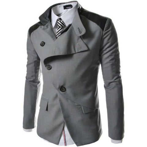 Futerisitic Jacket Casual Blazer - Grey