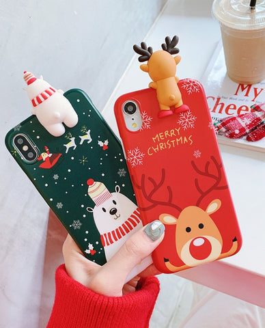 Christmas Snowman Elk Iphone Case