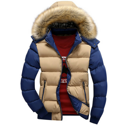 Two Colour Warm Winter Jacket Casual