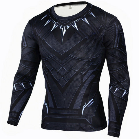 Black Panther Compression Long Sleeve