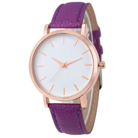 LINDER DESIGN Metro Leather Watch in Purple