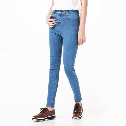 High Waisted Premium Jeans in Blue