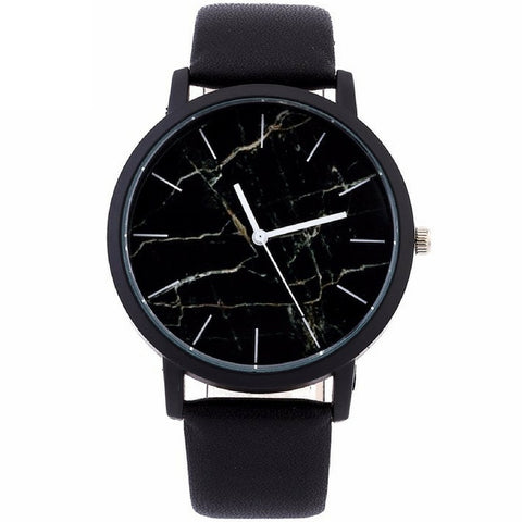 LINDER DESIGN Marble Watch in Black Cracked