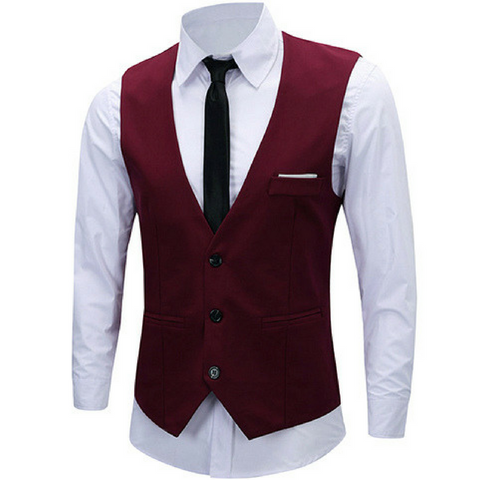 Business Waistcoat - Red