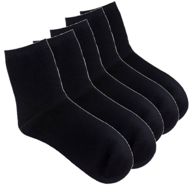 5 Pairs Business Socks- Light Grey