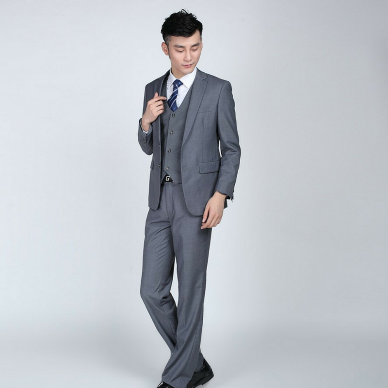 Party Wedding Suits Two Button- Dark Grey – LINDER