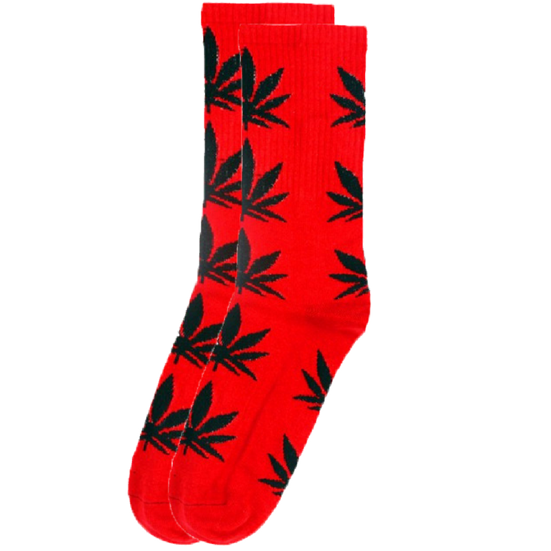 5 Pairs Huf Canister Leisure Socks-Black Green