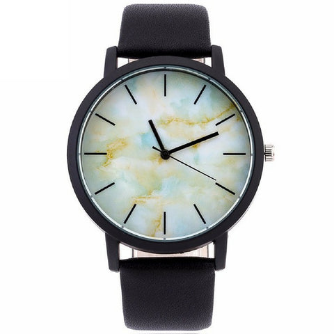 LINDER DESIGN Marble Watch in Blue Fade