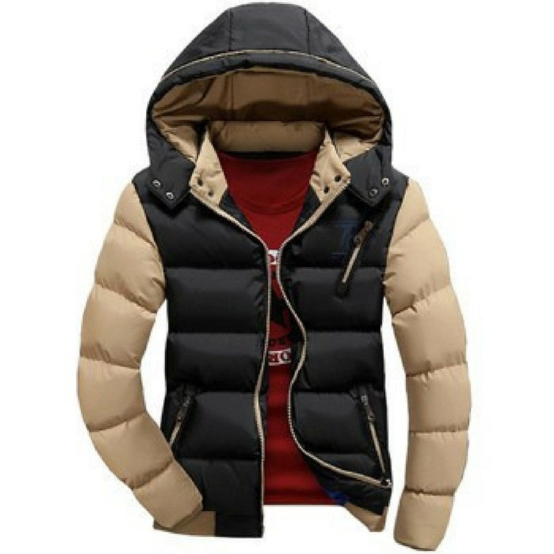 Quilted Jacket with Hood in Red