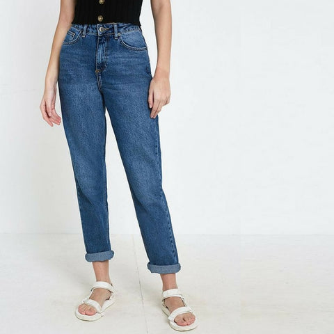Classic High Rise Deep Blue Jeans