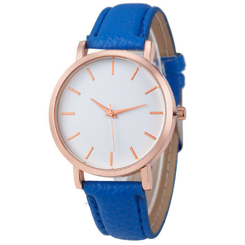 LINDER DESIGN Metro Leather Watch in Blue