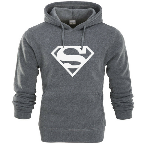 Superman Hoodie-Dark Grey