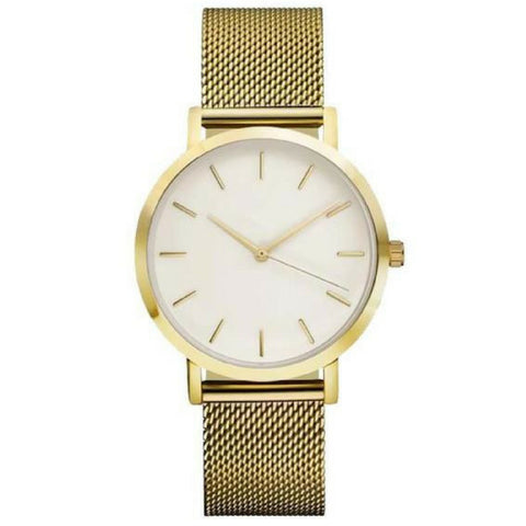Linder Vintage Inspired Mesh Strap Women Watch in Gold