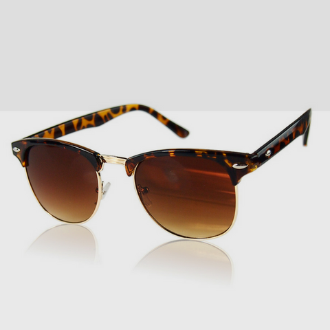 Polarized Classic Retro Sunglasses in Leopard Brown