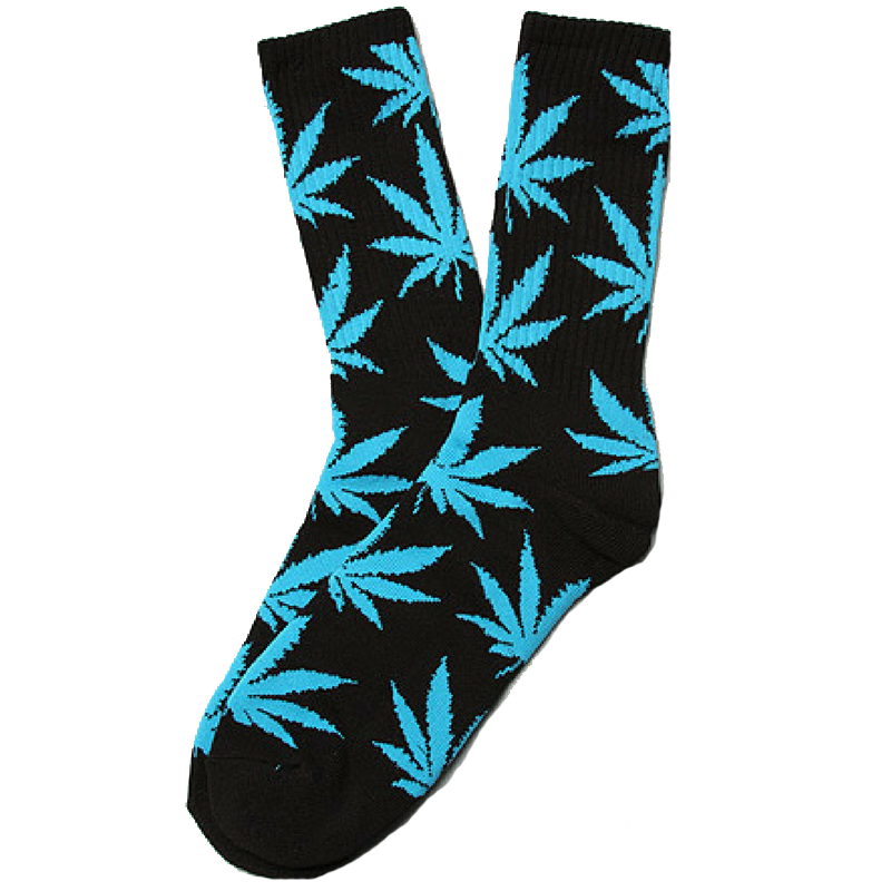 5 Pairs Huf Canister Leisure Socks - Green Pink