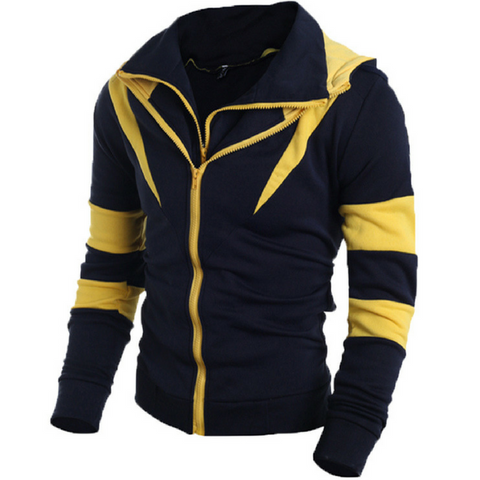 Venom Assassins Hoodie Jacket-Navy Yellow